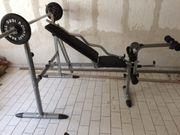Hantelbank und Hammer Fitnessgerät sehr