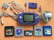 Gameboy Advance Konsole mit Zubehör