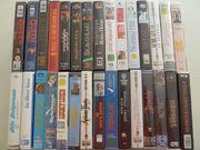 30 VHS-Videocassetten zu verschenken