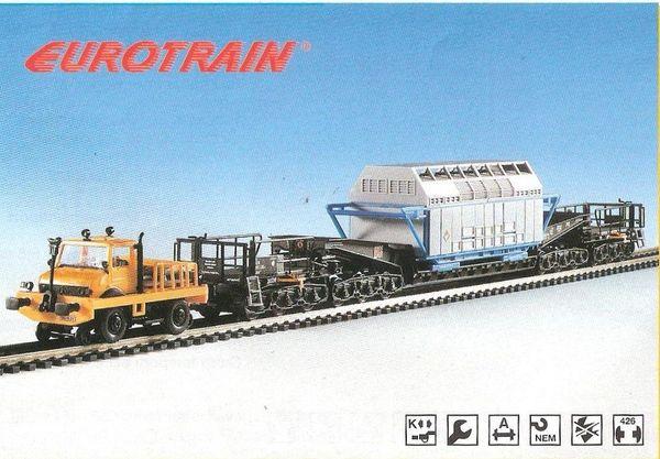 Zweiwege-Unimog-Rail-Schienentieflader mit Castor-H0-Fertigmodell-gut erhalten-Super Preis