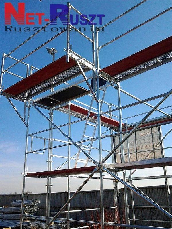 Neues Baugerüst 1008 qm Holzboden 3 m KOMPLET ZUM AUFBAU PL70 - Pl-47214 Poborszów - Baugerüst 1008,00 qm Holzbelag NEU! Gerüst in Plettac SystemPremium-Qualität Gerüst kompatibel mit PlettacArbeitsfläche: 1008,00 qmArbeitshöhe: 10,5 mGerüstlänge: 96 mDas Gerüst besteht aus:*Stahl-Vertikalrahmen 2,00m x 0,74 - Pl-47214 Poborszów