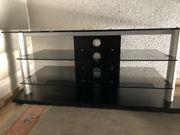 Fernsehtisch aus Holz Glas