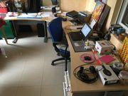 L-Form Schreibtisch mit Buerostuhl