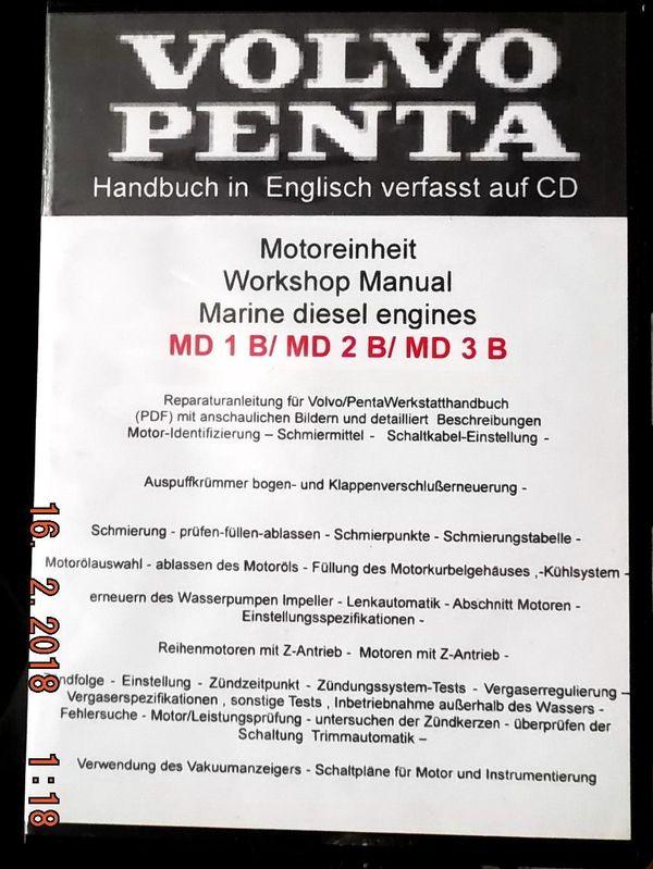 Volvo penta md1bmd2bmd3b werkstatthandbuch englisch auf cd in volvo penta md1b literatur betriebsanleitungen publicscrutiny Images