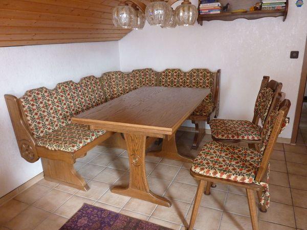 Eckbank, 2 Stühle und Tisch, Eiche Rustikal in Ellhofen ...
