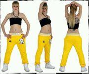 Trendy Jogginghosen in Rot Gelb
