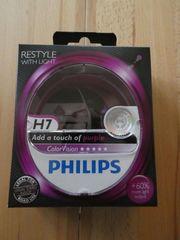 Philips H7 ColorVision Scheinwerferlampen purple