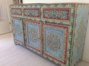 Bauernmalerei Sideboard, massiver