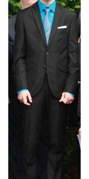 Anzug schwarz Größe 44 Konfirmation