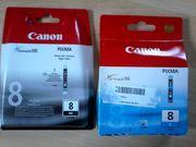 Canon Druckerpatronen cyan und schwarz