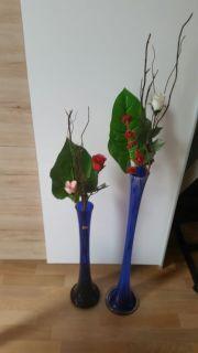 2X Deko Kristall Design Vase