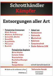Schrott Schrotthändler Kämpfer