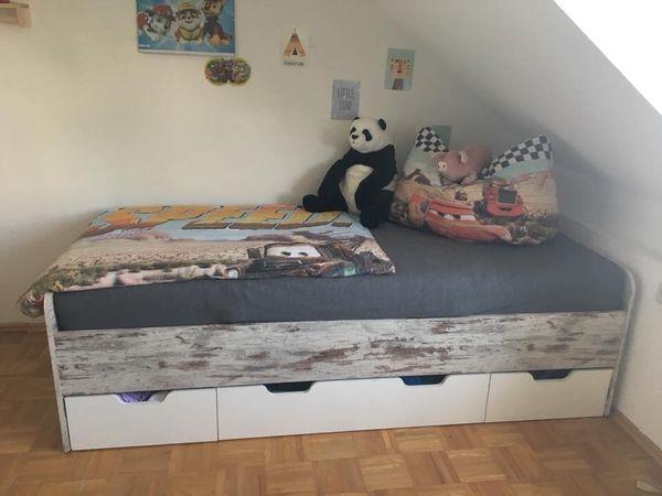 einzelbett mit stauraum, einzelbett mit stauraum in hard - kinder-/jugendzimmer kaufen und, Design ideen