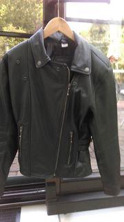 Motorrad Lederjacke schwarz