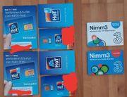 4 Wertkarte Simkarten Starterpakete mit