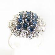 Ring Weißgold 585er Diamanten Saphire