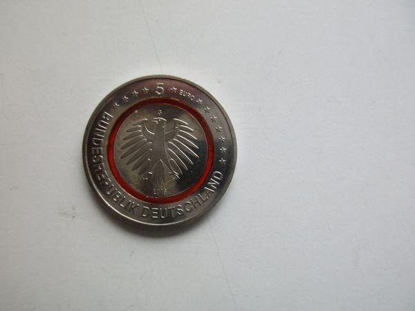 5 Euro Münze Subtropische Zone 2018 Ptägebuchstabe G In