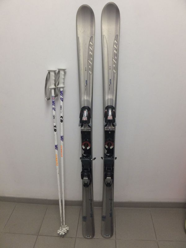 Ski Elan True Lite + Marker Bindung + Stöcke - Backnang - Ski Elan True Lite 2.0 155cm mit Marker Skibindung Speed Point und Skistöcke Sunrise Super Type 115 cm.Belag noch gut ohne tiefe Kratzer - Backnang