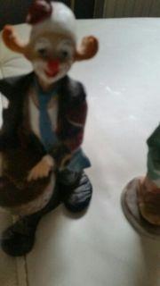 3 Keramik Clowns