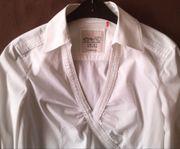 Esprit Hemd Bluse mit Besatz