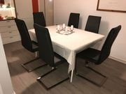 Stuhlgruppe Niehoff 6 Schwingstühle edles